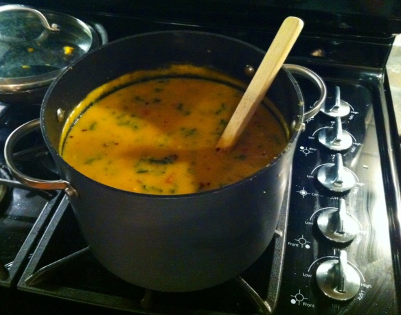 Pot of Soup on the Stove