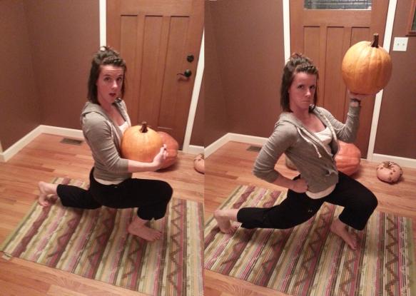 Pumpkin lunge