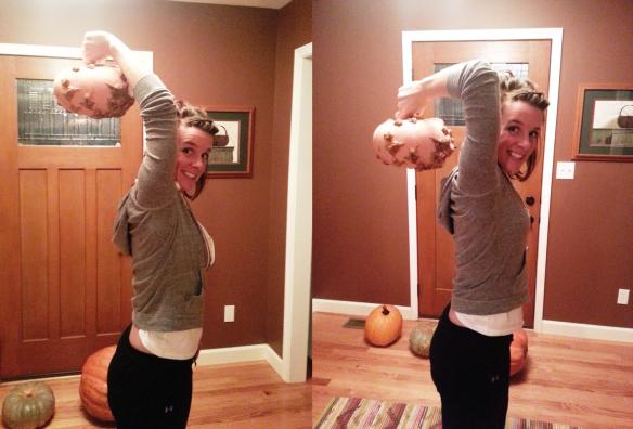 Pumpkin triceps