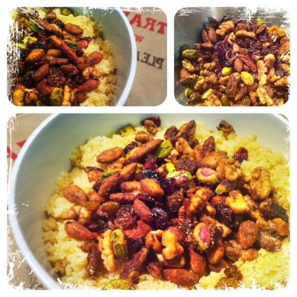 healthy nut and fruit couscous