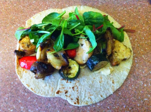 Diabetic Roasted Vegetable Wrap